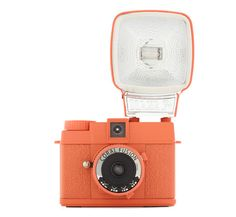 Special Edition Diana Mini Camera in Coral Fusion by Lomography - Orange, Mid-Century, Travel Antique Cameras, Old Cameras, Vintage Cameras, Miami Beach, Foto Fun, Just Peachy, Fujifilm Instax Mini, Fuji Instax, Orange