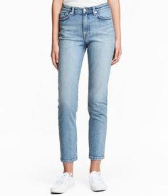 Straight High Waist Jeans | Ljus denimblå | Dam | H&M SE