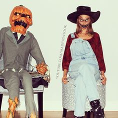 LETS PLAY A GAME of find Lex.. This #SCAREcrow #tutorial will be TONIGHT on www.youtube.com/madeyewlook! Inspired by my business partners, Sir #Nester to the left, and Sir #LittleNester Jr to the right from @spirithalloween, as well as influenced by my #Voodoodoll character last Halloween, and The #PumpkinKing #makeup I also created last year. SMOOSHING IDEAS TOGETHER, MWHAHA. PS. Yes, I DID go out in this makeup. Footage will be in the video as well at the end.