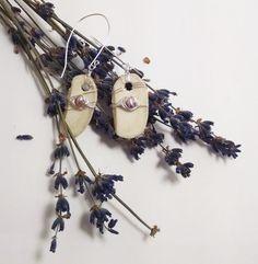 Lavender Fresh Water Pearl, Michigan Deer Antler Dangle Earrings! Found on Etsy!