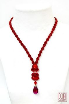 sdln792 , red pendants , red necklaces , SDL-N792