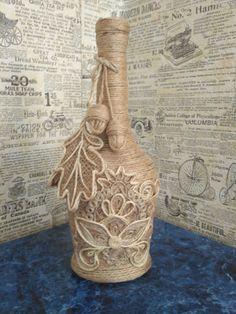 декорирование стеклянных бутылок