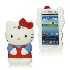 Cute Cartoon 3D Hello Kitty Silicone Case for Samsung Galaxy S3 S III I9300