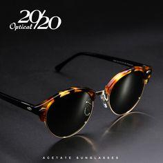 20/20 Brand Classic Round Polarized Men Sunglasses Women Acetate Glasses for Unisex Driving Eyewear Oculos Gafas UV400