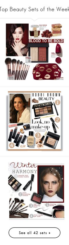 """""""Top Beauty Sets of the Week"""" by polyvore ❤ liked on Polyvore featuring beauty, IPKN, Charlotte Tilbury, NARS Cosmetics, Roja Parfums, Bobbi Brown Cosmetics, BobbiBrown, katieholmes, Borghese and Surratt"""