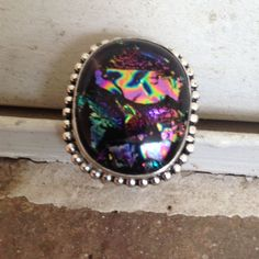 Dichroic Glass Ring.