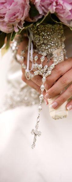 Rosary for the wedding...                                                                                                                                                      More #ChristianWeddingIdeas