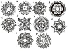 New 10 Mandala Tattoo Designs