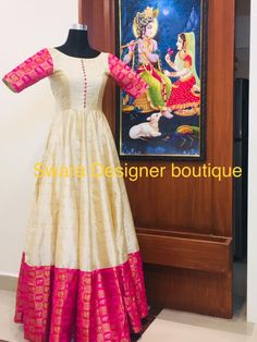 Can be customised To order WhatsApp 9959021569 Long Gown Dress, Frock Dress, Long Frock, Long Gowns, Long Dresses, Long Dress Fashion, Indian Fashion Dresses, Indian Gowns, Saree Gown