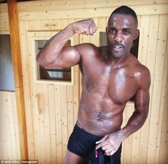 Don't believe the hype! Idris Elba, 44, has since denied claims that he openly kissed veteran singer Madonna, 58, while celebrating his kick boxing victory at a Halloween party held at London's upmarket M restaurant