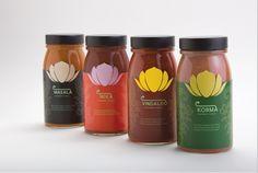 Indian Sauces by ELO Designer, via Behance Spices Packaging, Cool Packaging, Food Packaging Design, Cereal Packaging, Packaging Ideas, Indian Sauces, Indian Drinks, Indian Cookbook, India Food