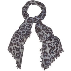 Lily and Lionel Bianca Silk Mix Scarf - Monochrome ($130) ❤ liked on Polyvore featuring accessories, scarves, monochrome, silk shawl, leopard print scarves, silk scarves, leopard shawl and leopard print shawl
