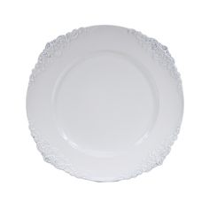 White Vintage Charger Plates, 4-Pack [424661] : Wholesale Wedding Supplies, Discount Wedding Favors, Party Favors, and Bulk Event Supplies