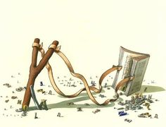 Lanzando la lectura! En busca de lectores (ilustración de Selçuk Demirel)
