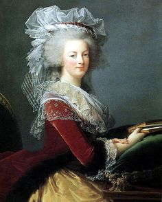 Queen Marie Anoinette - 1785 ~ Elisabeth-Louise Vigee Le Brune Marie Anoinette was said to love her cats so much that she would allow them to walk across the table during her lavash dinner parties.