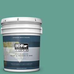 BEHR Premium Plus Ultra 5 gal. #T17-15 Jade Dragon Satin Enamel Interior Paint