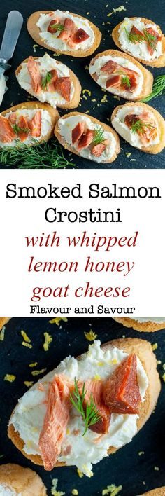 Try this Smoked Salmon Crostini with Whipped Goat Cheese made with slightly sweet honey-lemon goat cheese and smoked salmon when you need an easy appetizer.
