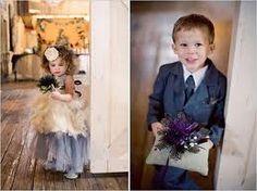Shabby chic Flower girl & Junior groomsman