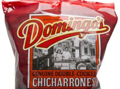 Domingo's package design by Mark Oliver, Inc. solved the challenge of selling pork rinds to the natural food crowd. Snack Recipes, Snacks, Pork Rinds, Package Design, Crowd, Chips, Label, Challenge, Packaging