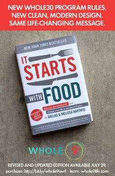 It Starts With Food Gets a Makeover | Whole9 ...  LOVE the original book. The look of it was aimed at a specific audience.  This is just a little more user-friendly/cleaner for the average Joe.  And the rule changes:  White potatoes now OK, as is table salt.
