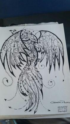 Geometric Phoenix (Tattoo)