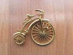 Penny Farthing, Vintage Gifts, My Ebay, Advertising, Bicycle, Brooch, Store, Business, Gold