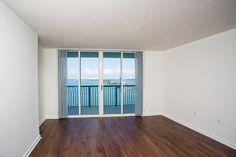 Bedrooms have balcony access and hardwood flooring Hardwood Floors, Flooring, 2 Bedroom Apartment, Balcony, Bedrooms, New Homes, Modern, Wood Floor Tiles, Wood Flooring