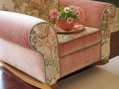 love this velvet/floral upholstered rocker!: by Majlee on Flickr