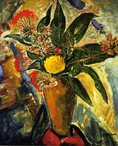 The Athenaeum - Still LIfe with Vase and Flowers (Alfred Henry Maurer - )