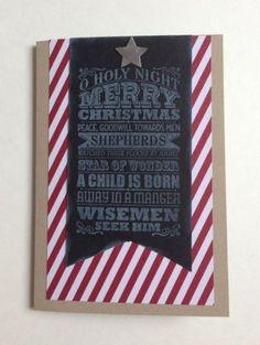 Chalkboard Christmas - CAS card