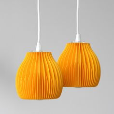 RIBONE - Lamp shades are made out of PLA material using FDM 3D printer.