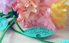 FLOWER PARTY : L'INVITATION