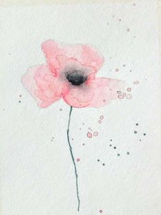 Fleur à l'aquarelle facile et rapide à réaliser Oeuvre D'art, Club, Artwork, Watercolour, Flowers, Budget, Watercolor Poppies, Watercolor Painting, Watercolour Paintings