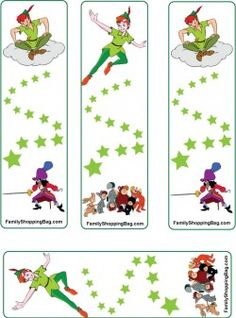 Peter and Gang Gift Tags Fairy Birthday Party, Pirate Birthday, Pirate Party, Birthday Party Themes, Peter Pan Book, Peter Pan Party, Tinkerbell Party, Kids Party Themes, Party Ideas