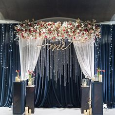 20 Ideas Party Lights Decoration Starry Nights For 2019 18th Debut Theme, 18th Debut Ideas, Debut Themes, Starry Night Wedding, Starry Nights, Wedding Centerpieces, Wedding Decorations, Prom Backdrops, Wedding Backdrop Design