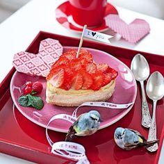 Un cheese-cake en forme de cœur // heart, cheescake, cute, sweet, yummy