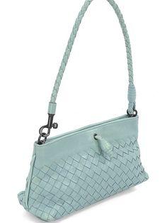 Bottega Veneta Handbag - Sea Foam Woven Leather Shoulder Bag. Our Price: $394.95