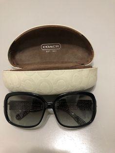 4e94601ec0c8 Coach sunglasses w/case HC 8027 Scarlett L902 Gloss Black w/case #fashion