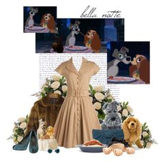Lady and the Tramp, created by blue-herring on Polyvore