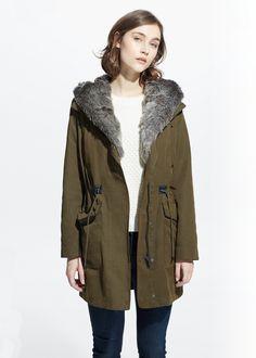Military hooded coat