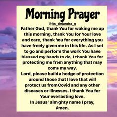 """Alejandra G. on Instagram: """"GOoD Morning Family 🙏🏽❤️✝️🧎🏽♀️🕊"""" Good Morning Prayer, Morning Prayers, Everyday Prayers, Give It To Me, Love You, Daily Word, God Prayer, Heavenly Father, Inspirational Quotes"""