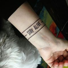 ((stay alive)) •• owner: @squishydeniei :: #cliqueart #cliquetattoos #twentyonepilots #twentyonepilotstattoo
