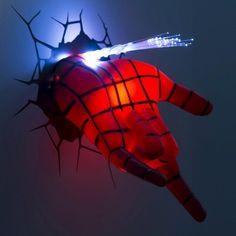 Marvel 3D Wall Nightlight - Spider-Man Hand