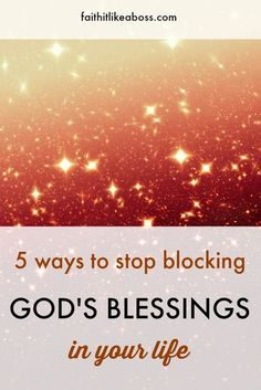 Prayers For Strength:Want to see more of God's blessings in your life. Read here for 5 ways we block God's blessings and how to remove the blockages. Christian Living, Christian Faith, Christian Women, Christian Quotes About Life, Prayers For Strength, Christian Encouragement, Christian Devotions, Knowing God, Christian Inspiration