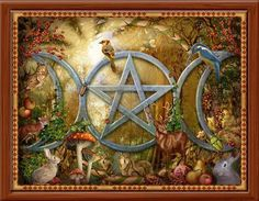 Pentacle within the threefold goddess symbol Triple Goddess, Moon Goddess, Hecate Goddess, Goddess Art, Tarot, Wicca Kunst, Wiccan Art, Pagan Witch, Witches