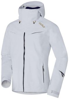 Odlo Jacket Hardshell 3L Goretex Spirit White. Clothes man Jackets shell, Snowinn.com, buy, offers, ski.