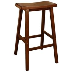 American Heritage Billiards Saddle 24-in. Bar Stool, Brown (Walnut) ($60) ❤ liked on Polyvore featuring home, furniture, stools, barstools, brown, brown furniture, walnut furniture, colored stools, saddle bar stools and foot stool