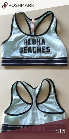 Pink Sports Bra Pink crop or sports bra top is perfect for warm weather or the gym! PINK Intimates & Sleepwear Bras