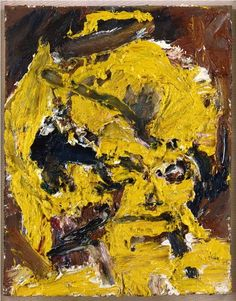Frank Auerbach  HEAD OF HELEN GILLESPIE V, 1965  oil on canvas  17 3/4 x 13 1/2 inches  45.1 x 34.3 cm