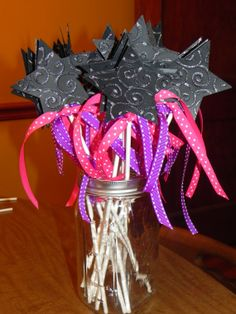 Rock Princess Birthday Party  Wands  Centerpiece  by JLMpartyshop, $16.00